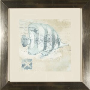 'Fish' 2 Piece Framed Graphic Art Set by Beachcrest Home