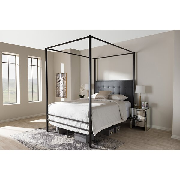 Orchard Hill Queen Upholstered Canopy Bed by Ivy Bronx