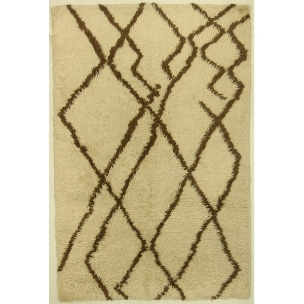 One-of-a-Kind Corbeil Hand-Knotted Wool Ivory Area Rug by Isabelline