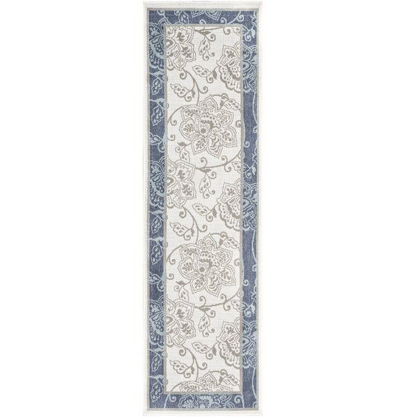 Amato Floral Ivory Indoor / Outdoor Use Area Rug