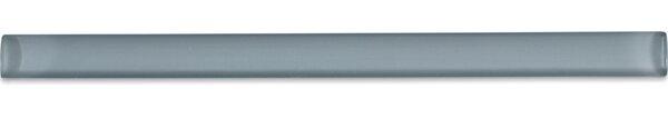 0.75 x 12 Glass Pencil Liner Tile in Gray Cove by Splashback Tile