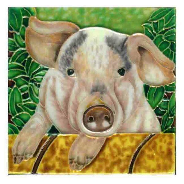 Pig Tile Wall Decor by Continental Art Center