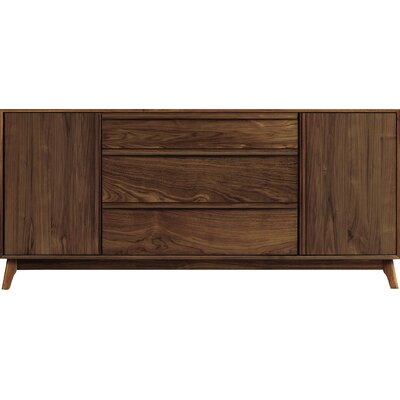 Copeland Furniture Catalina 3 Drawer in Center Sideboard  Color: Smoke Cherry
