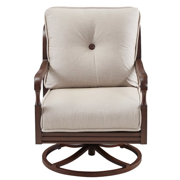 Canora Grey Bade Lounge Swivel Chair with Cushions ... on Bade Outdoor Living id=56423