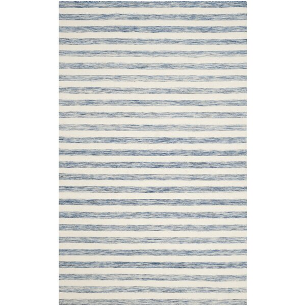 Dhurries Cotton Blue/Ivory Area Rug by Safavieh