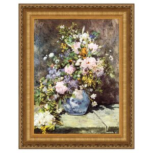 Vase of Flowers, 1886 Framed Painting Print on Canvas by Design Toscano
