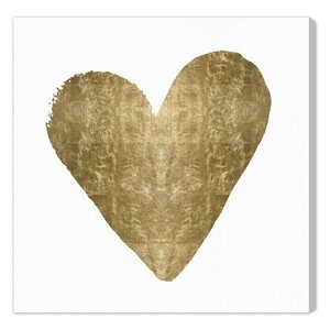 'Heart' Graphic Art Print on Canvas by Art Remedy