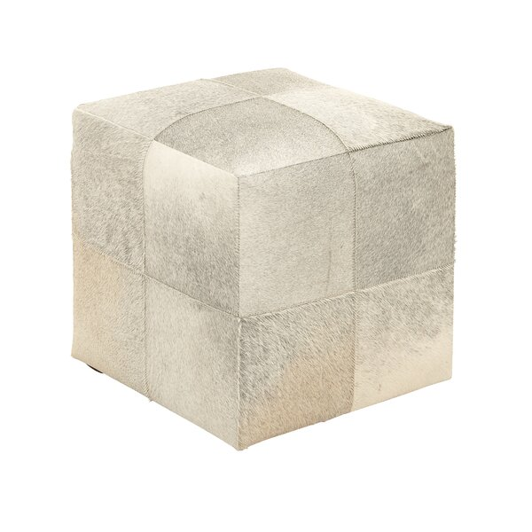 Leather Cube Ottoman By Cole & Grey Best Design
