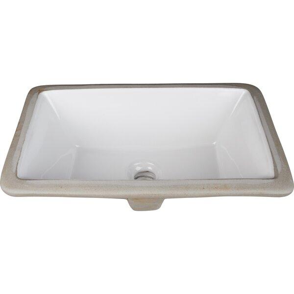 Ceramic Rectangular Undermount Bathroom Sink by Hardware Resources