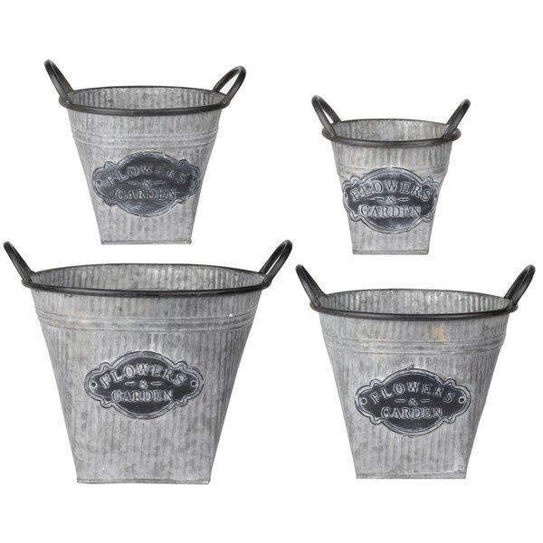 Villar Oval Metal Pot Planters by Gracie Oaks