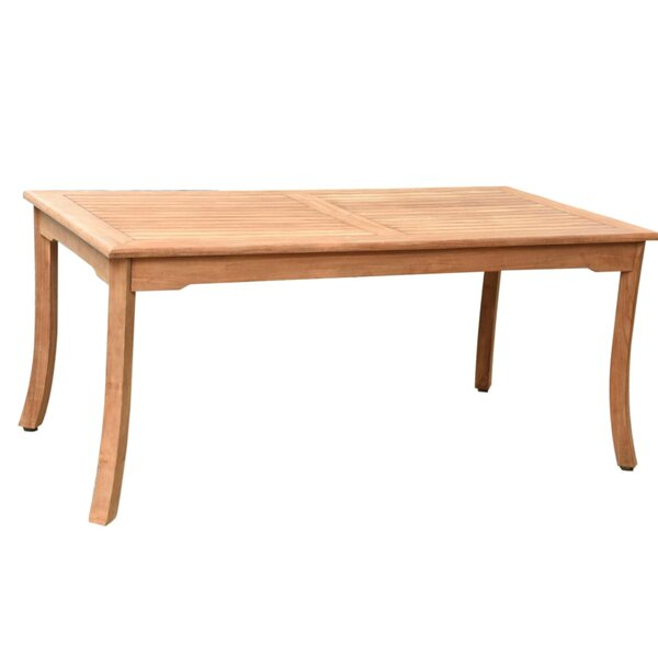 Daquan Teak Dining Table by Rosecliff Heights