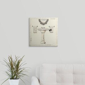 'Emily's Boudoir II - Sink' Graphic Art on Wrapped Canvas by Great Big Canvas