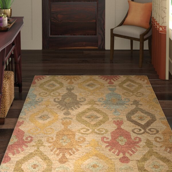 Horak Hand-Woven Beige Area Rug by World Menagerie