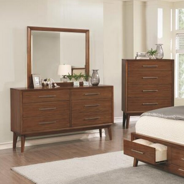 Marisol 6 Drawer Double Dresser with Mirror by Cor