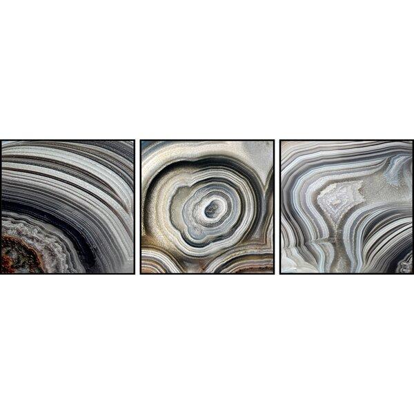 Beige Swirls Triptych by Marmont Hill