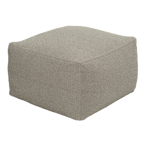 Archipelago Turku Square Crochet Outdoor Ottoman with Cushion by Seasonal Living