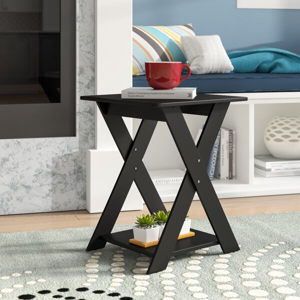 Artesian Modern Criss-Crossed End Table (Set Of 2) By Ebern Designs