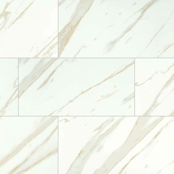 Calacatta 12 x 24 Porcelain Field Tile in White by MSI
