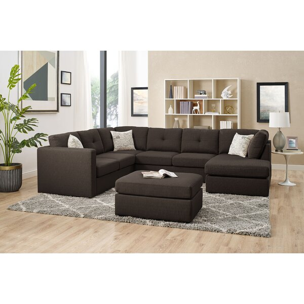 Konigstein Left Hand Facing Sectional With Ottoman By Ebern Designs