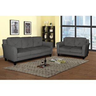 Anzavia 2 Piece Velvet Living Room Set by Mercury Row®