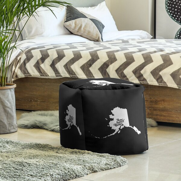 Home Sweet Anchorage Cube Ottoman by East Urban Home East Urban Home