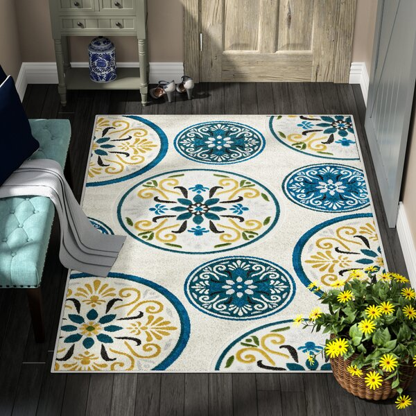 Janet Cream Indoor/Outdoor Area Rug By Winston Porter