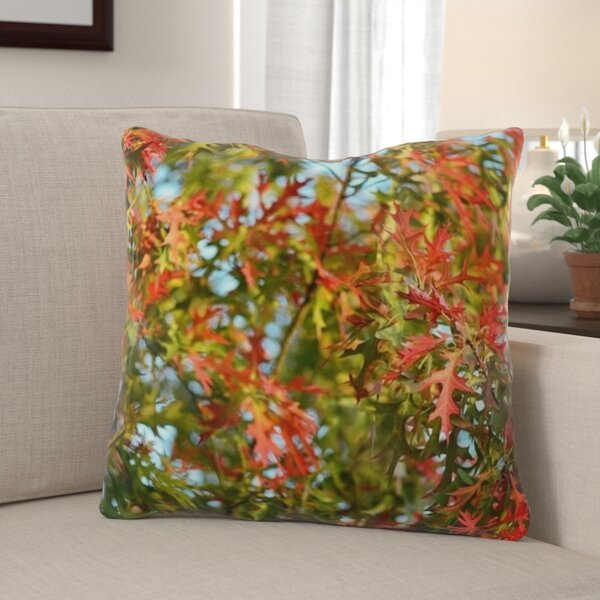 Wingfield Fall Leaves Background Indoor/Outdoor Throw Pillow