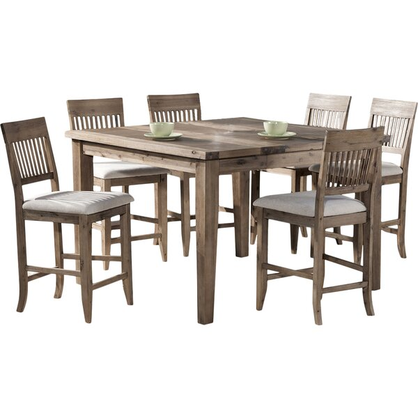 Centralia 7 Piece Extendable Solid Wood Dining Set By Highland Dunes Comparison