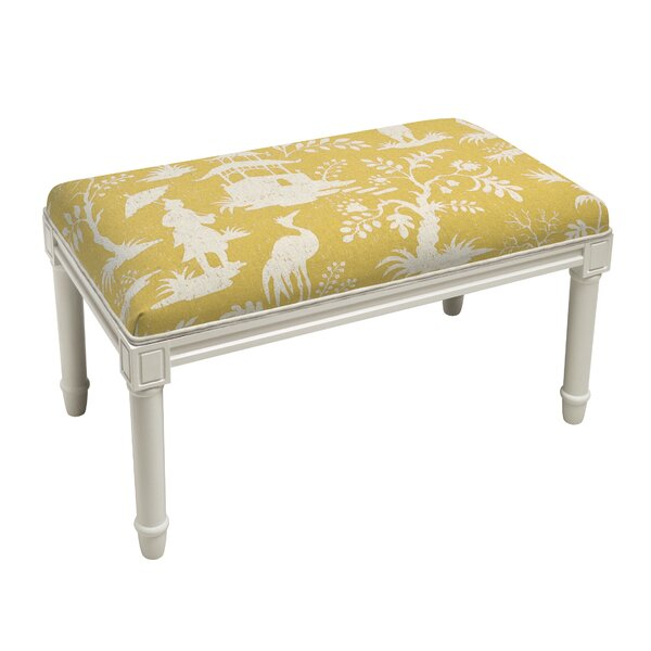 Aurik Chinoiserie Wood Bench by House of Hampton