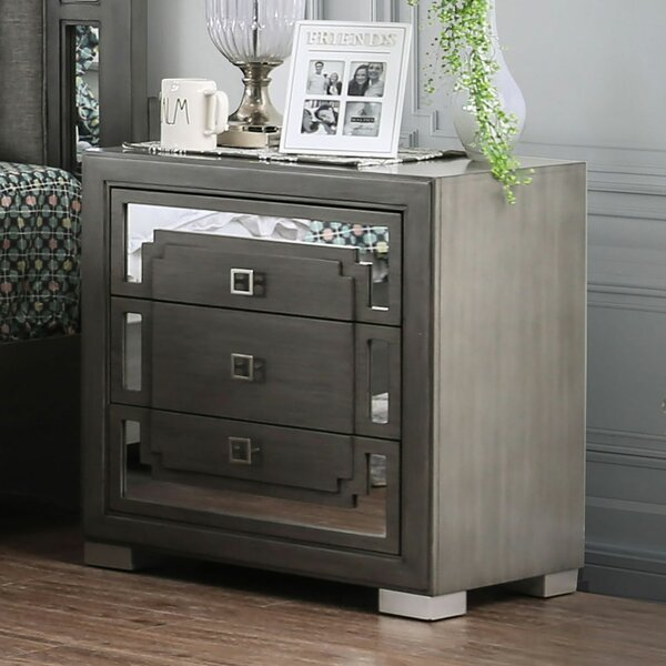 Andress 3 Drawer Nightstand by Everly Quinn