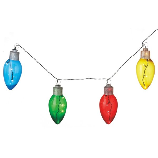 Holiday Shines Lighted LED Bulb Light String (Set of 4) by The Holiday Aisle