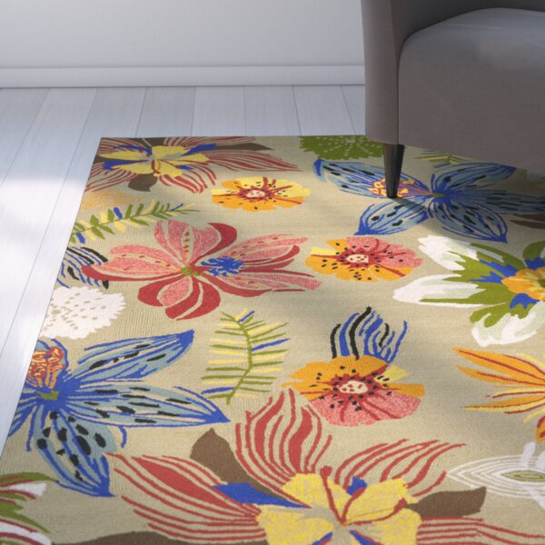 Hayes Olive Outdoor Area Rug by Ebern Designs