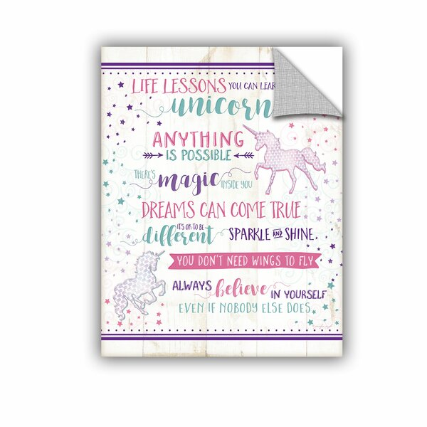 Life Lessons Unicorn Wall Decal by ArtWall