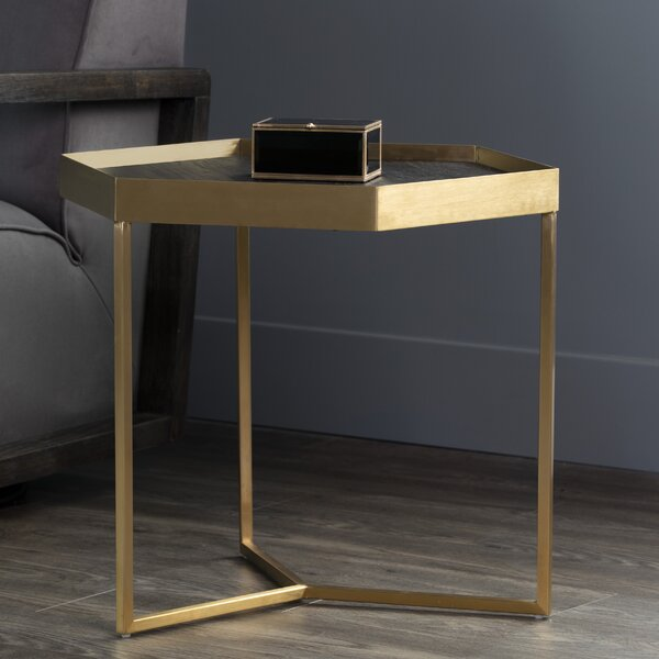 Lederman Hexagon Tray Table by Everly Quinn Everly Quinn