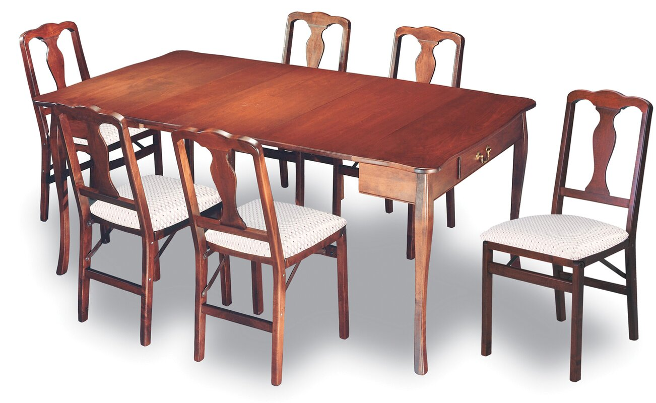 stakmore traditional expanding dining table & reviews | wayfair