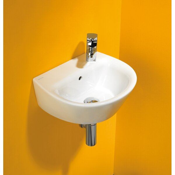 Universal Vitreous China 16 Wall Mount Bathroom Sink with Overflow by Bissonnet