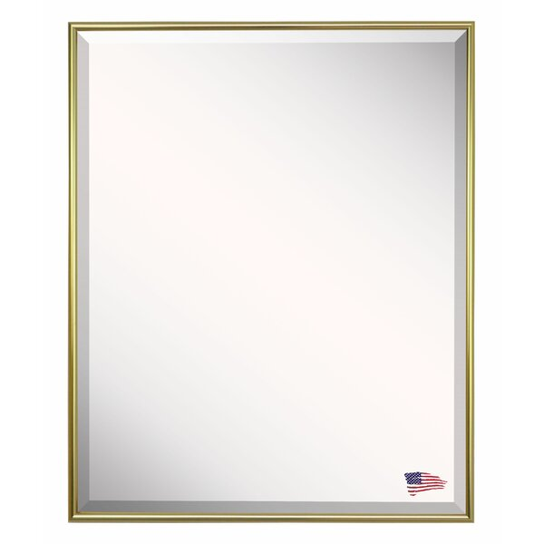 Rectangle Gold Metal Wall Mirror by Darby Home Co