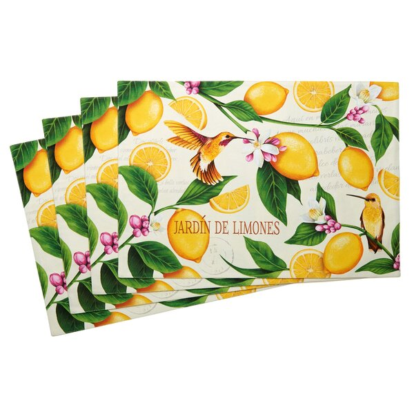Lemon Garden Placemat (Set of 4) by TSC Giftables
