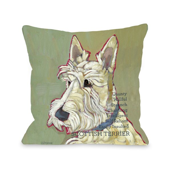 Doggy Décor Scottish Terrier Throw Pillow by One Bella Casa