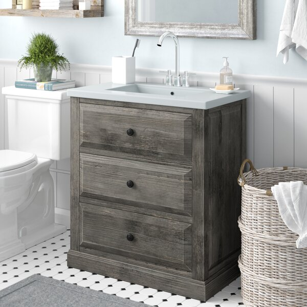 Bellevue 30 Single Sink Bathroom Vanity Set by Laurel Foundry Modern Farmhouse