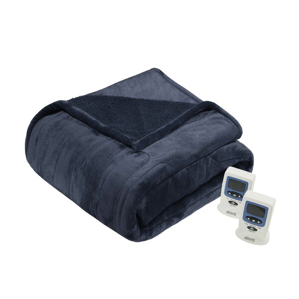 Beautyrest Solid Microlight/Berber Heated Blanket by Beautyrest