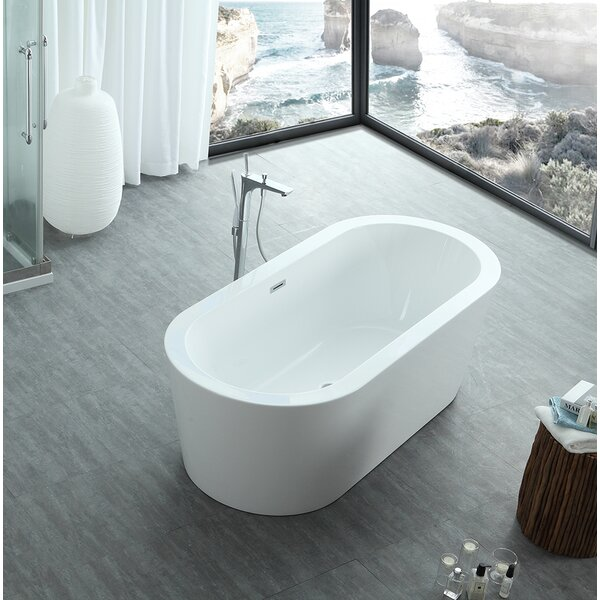Dionysus 60 x 30 Freestanding Soaking Bathtub by Eisen Home
