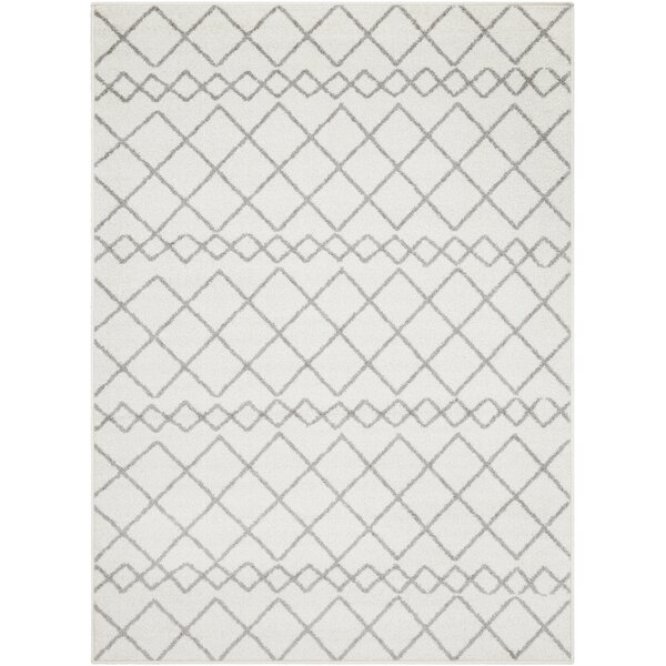 Calzada Global Gray/White Area Rug by Union Rustic