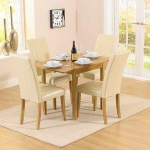 Essgruppe Pria Cambridge mit ausziehbarem Tisch und 4 Stühlen von Home Etc