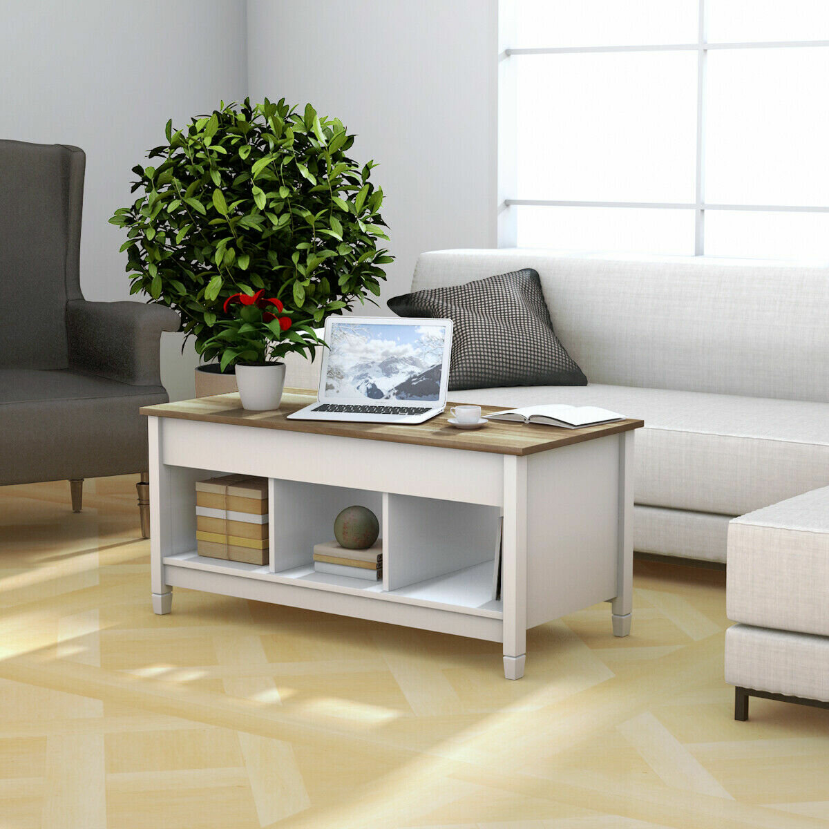Highland Dunes Alina Lift Top Coffee Table With Storage Reviews Wayfair