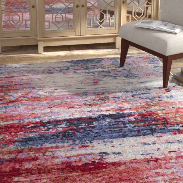 Turner Modern Abstract Red Area Rug by Bungalow Rose