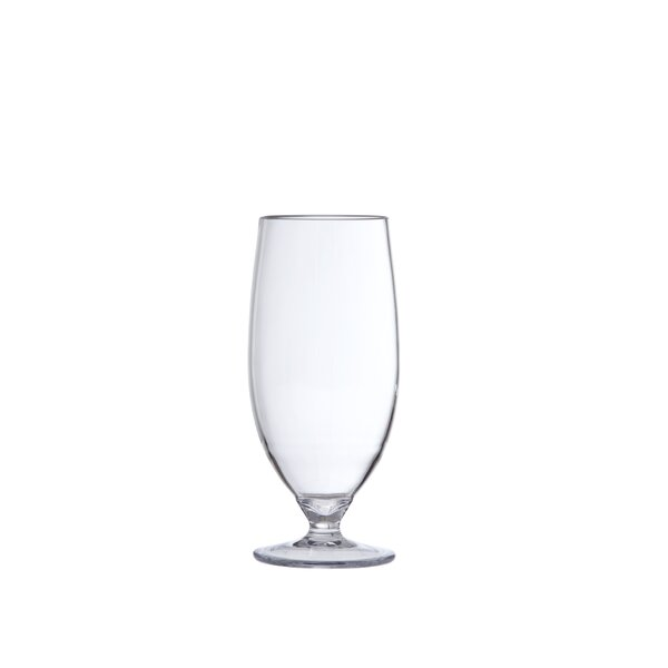 Water/Beer 20 oz. Plastic Every Day Glass (Set of 6) by D&V
