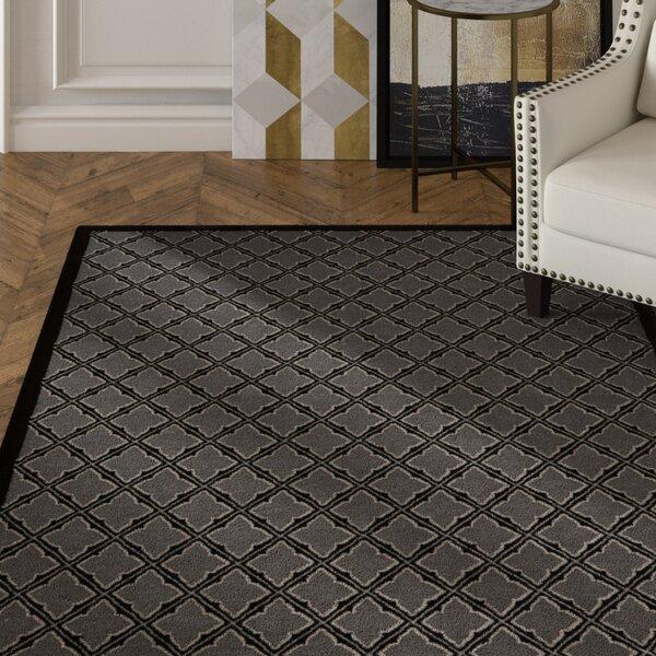 Hartz Silver/Black Area Rug by House of Hampton