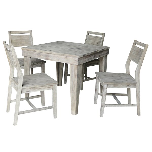 Games 5 Piece Solid Wood Dining Set by Gracie Oaks