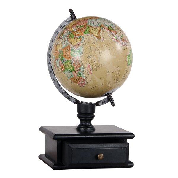 Vintage MDF Wood Storage Drawer Globe by Charlton Home
